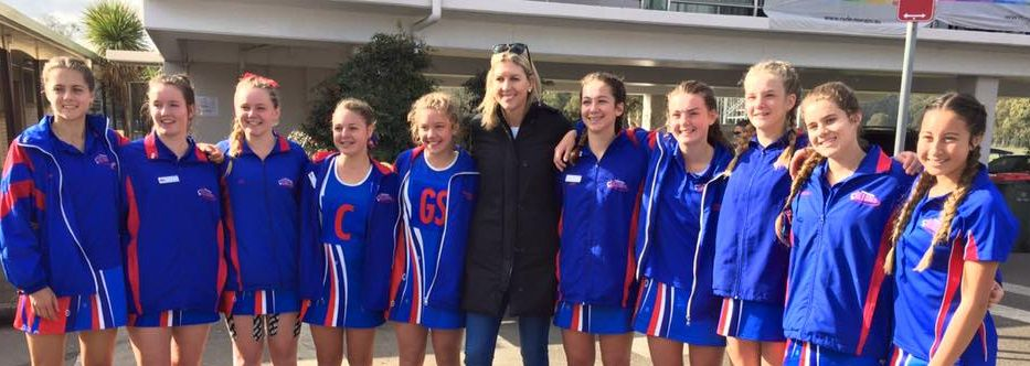 netball state age championships under 15s with cathy cox